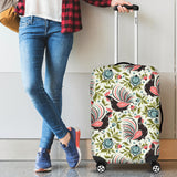 Rooster Chicken Leaves Pattern Luggage Covers