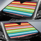 Rainbow Pattern Car Sun Shade