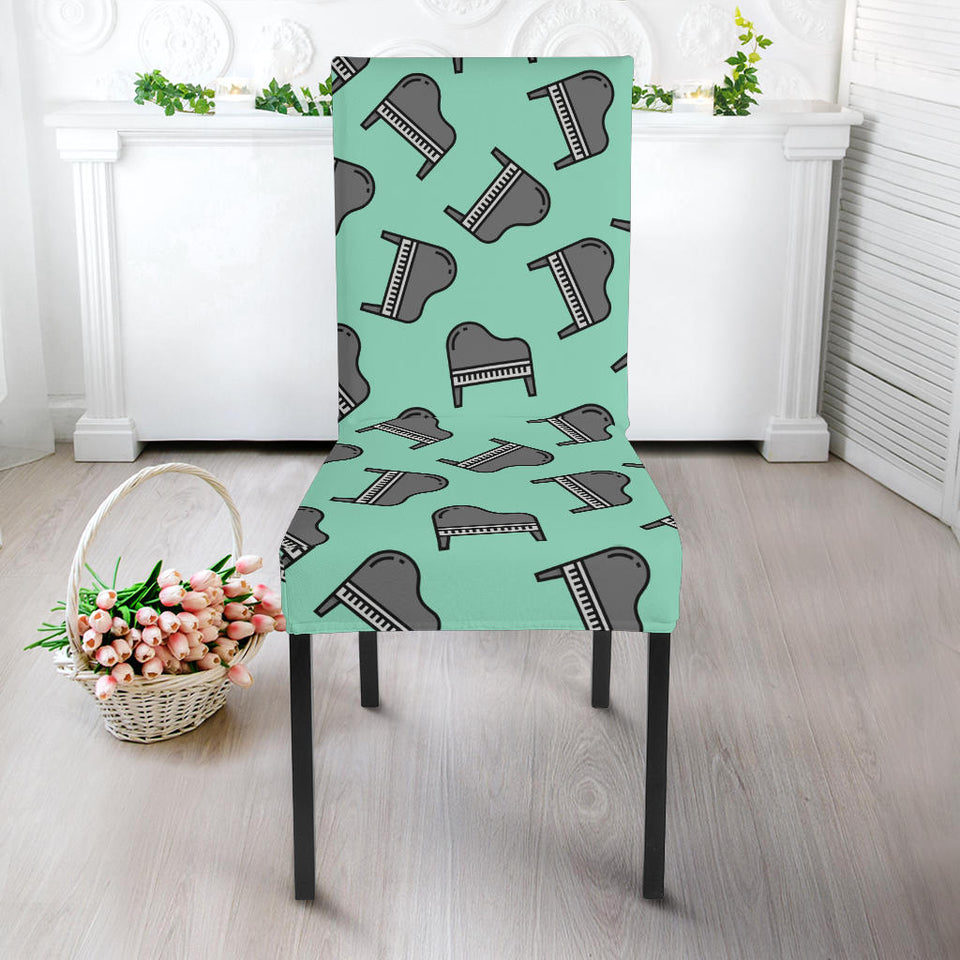Piano Pattern Print Design 04 Dining Chair Slipcover