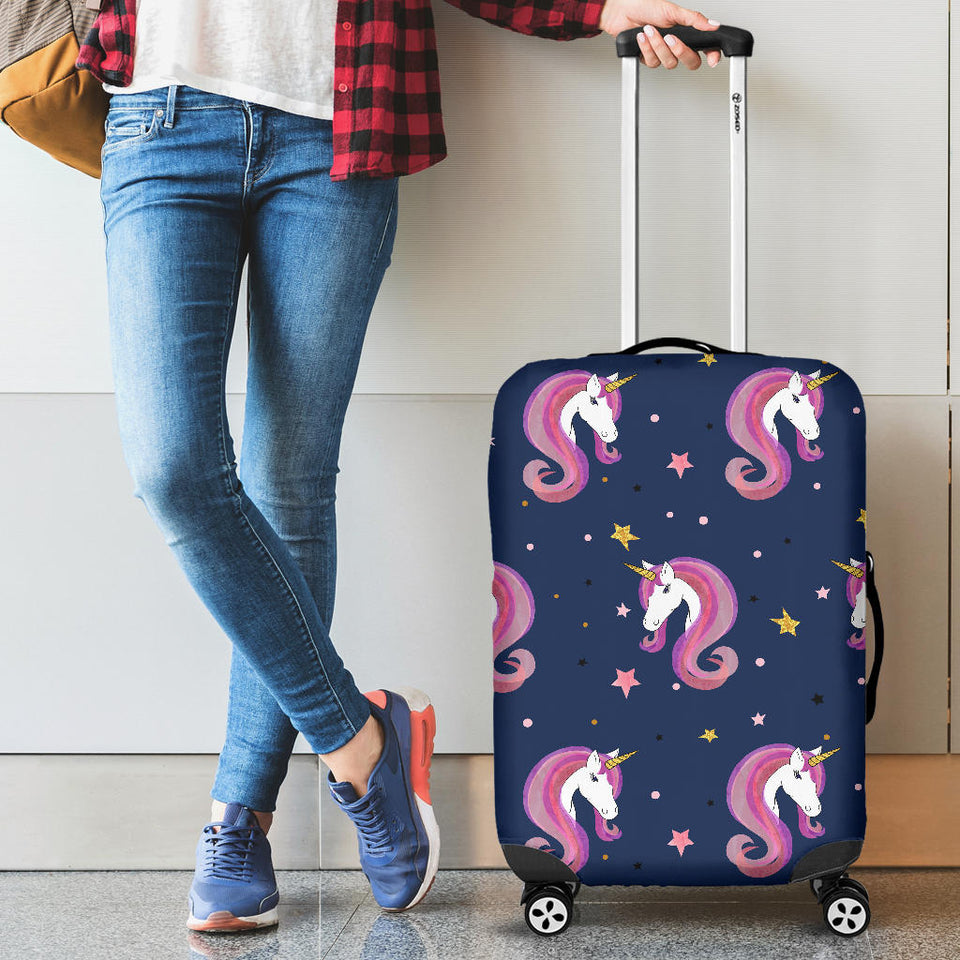 Unicorn Head Pattern Luggage Covers