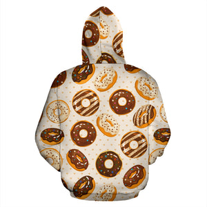 Chocolate Donut Pattern Men Women Pullover Hoodie
