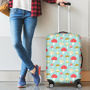 Mushroom Pattern Background Luggage Covers