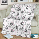 Boston Terrier Pattern Premium Blanket