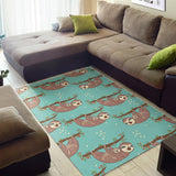 Sloth Mom and baby Pattern Area Rug