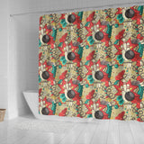 Bowling Pattern Background Shower Curtain Fulfilled In US
