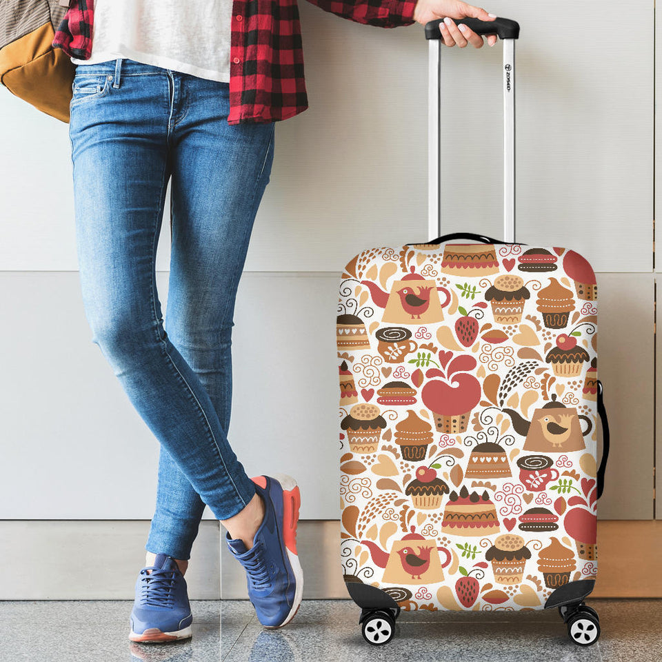 Hand Drawn Cake Pattern Luggage Covers