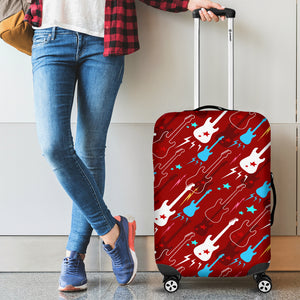 Electical Guitar Red Pattern Luggage Covers