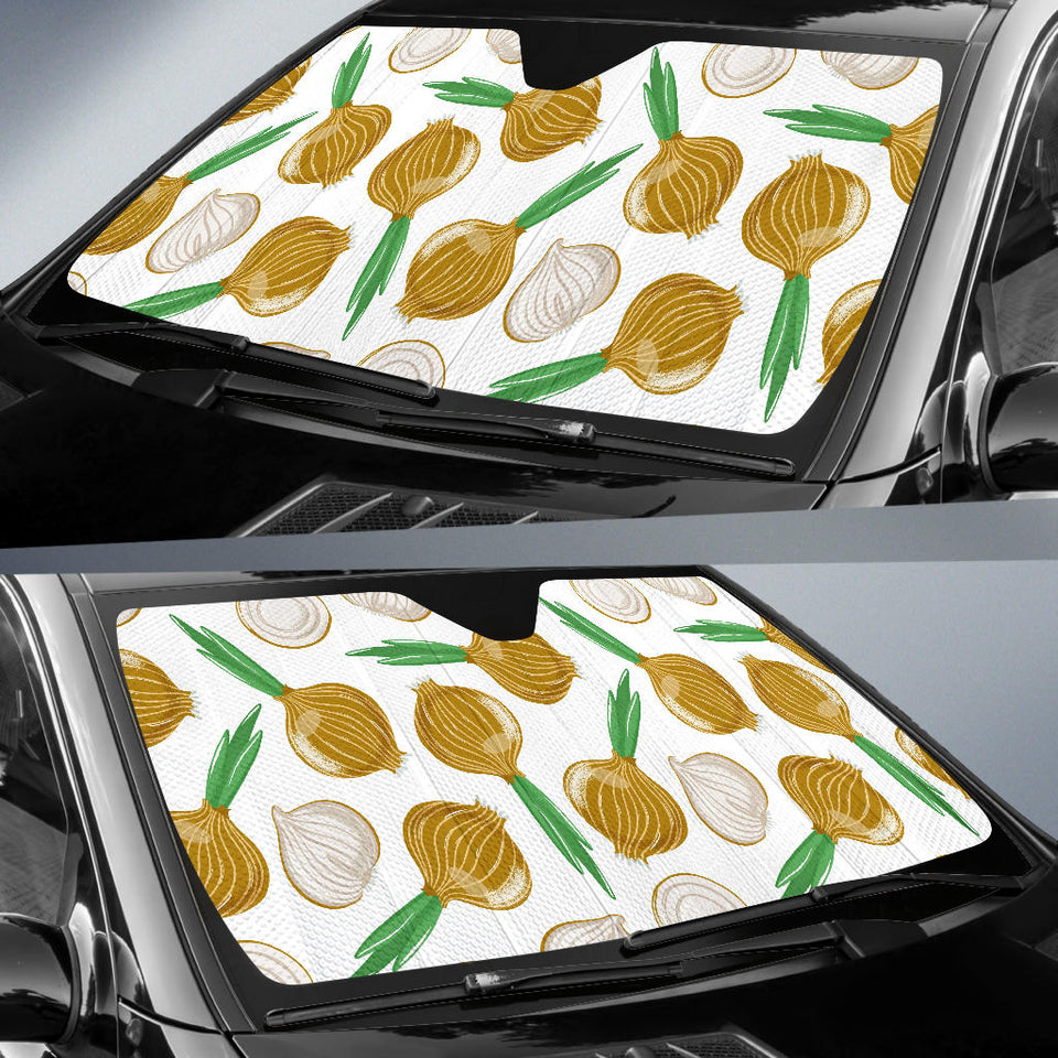 Onion Pattern Background Car Sun Shade