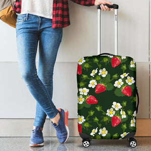 Strawberry Pattern Background Luggage Covers