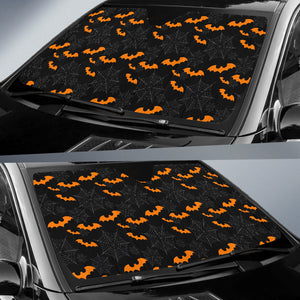 Cobweb Spider Web Bat Pattern Car Sun Shade