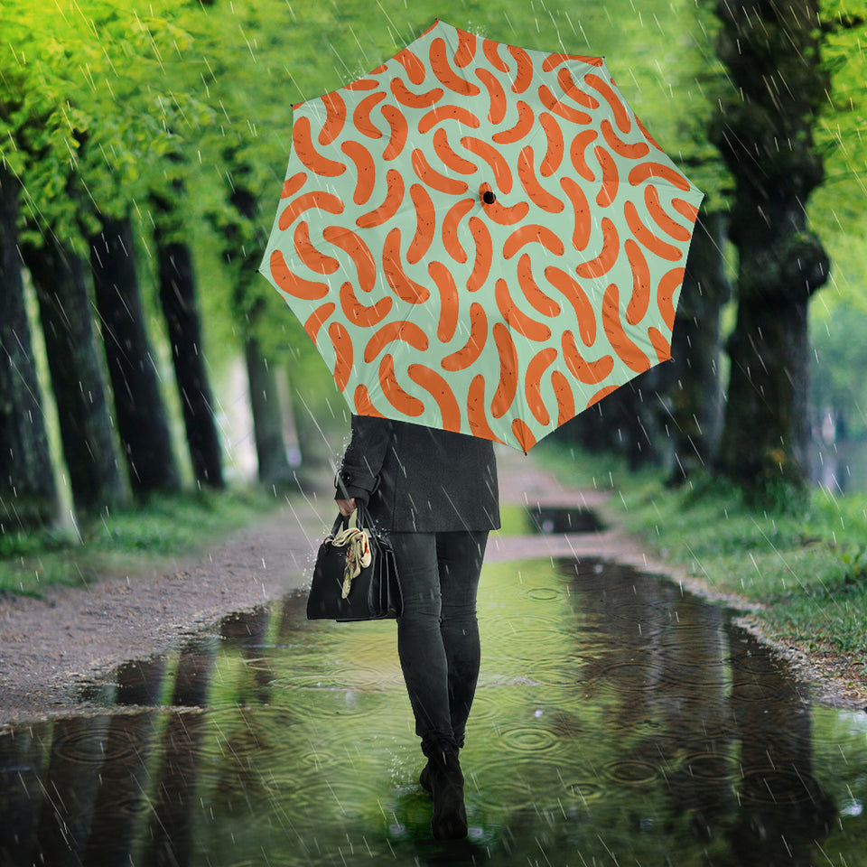 Sausage Pattern Print Design 04 Umbrella