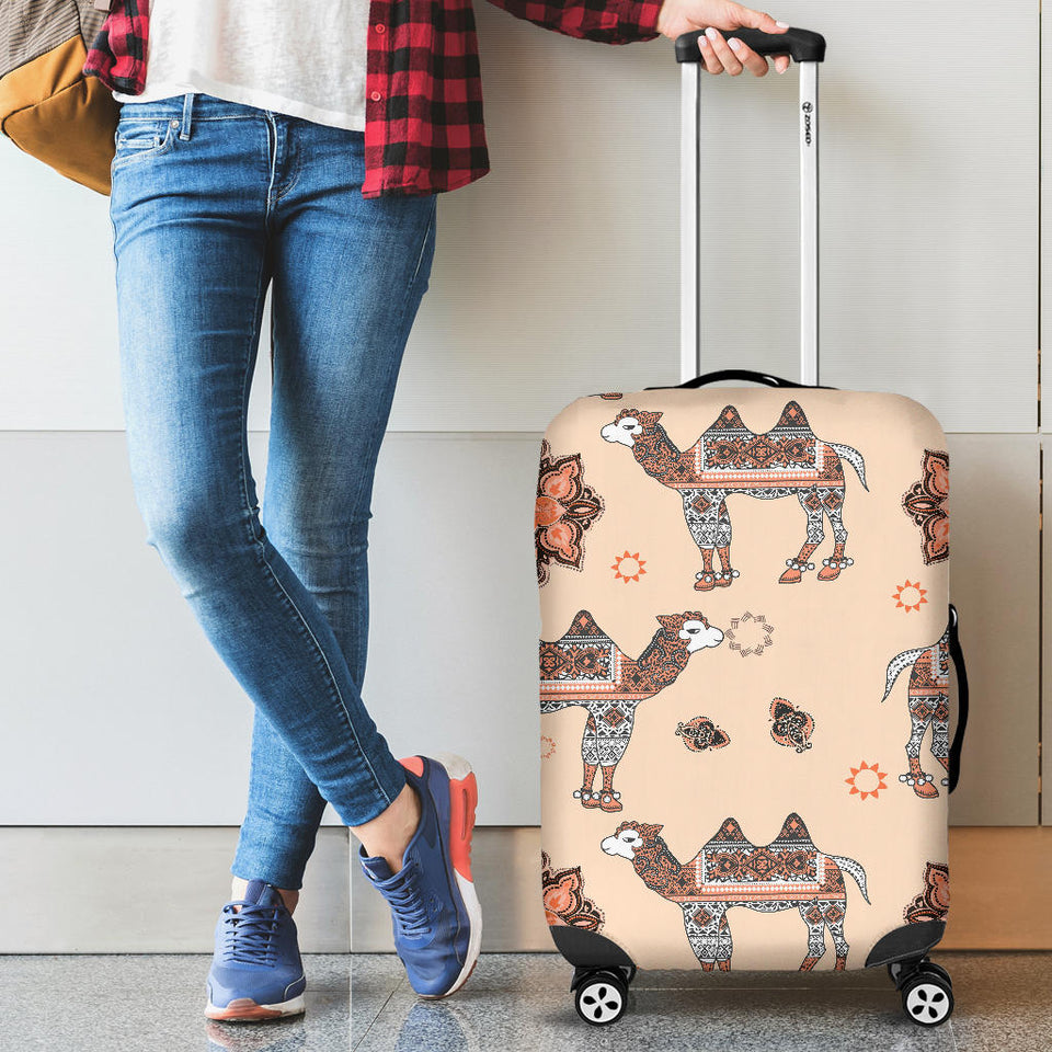 Camel Tribal Pattern Luggage Covers