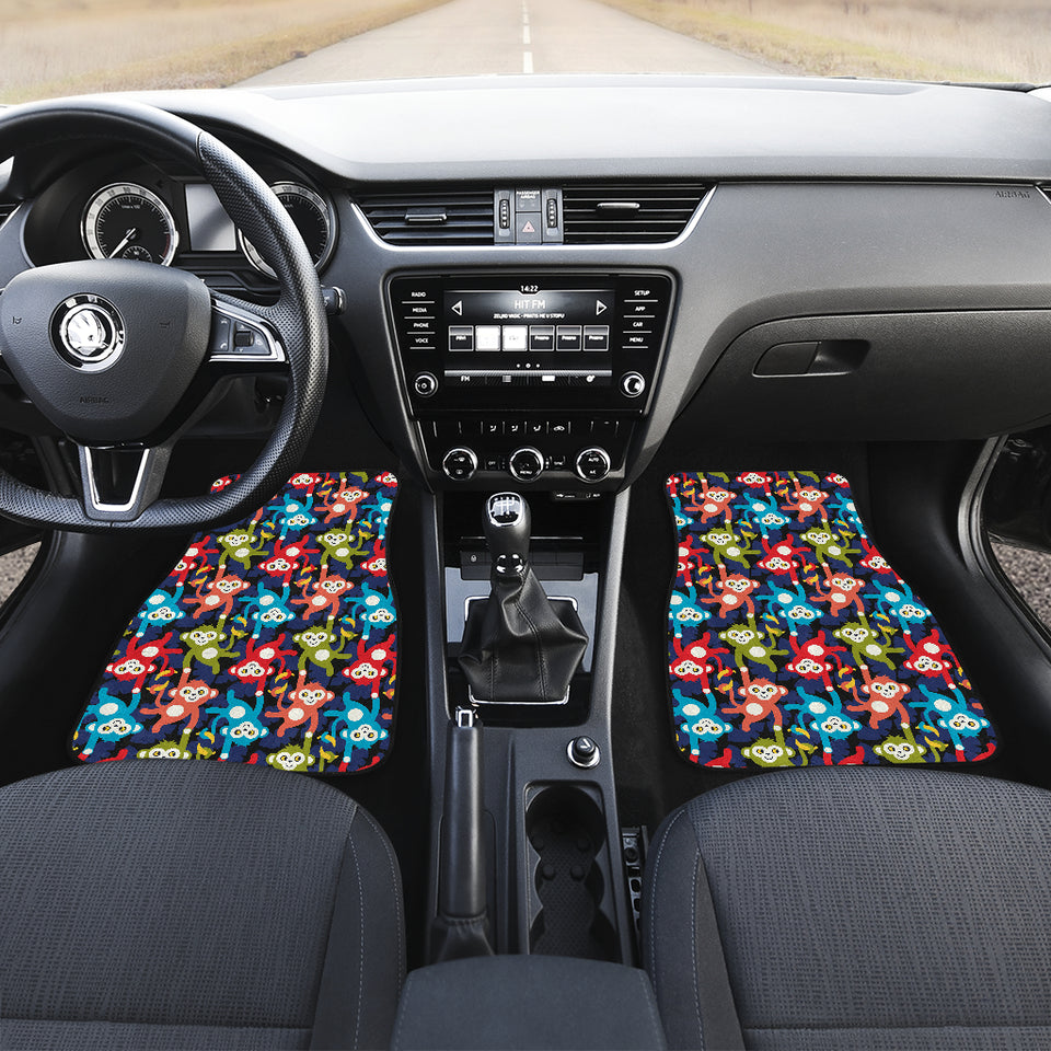 Colorful Monkey Pattern Front Car Mats