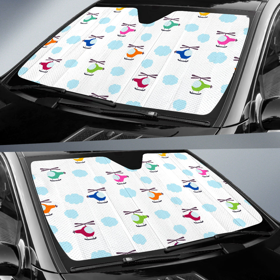 Helicopter Could Pattern Car Sun Shade