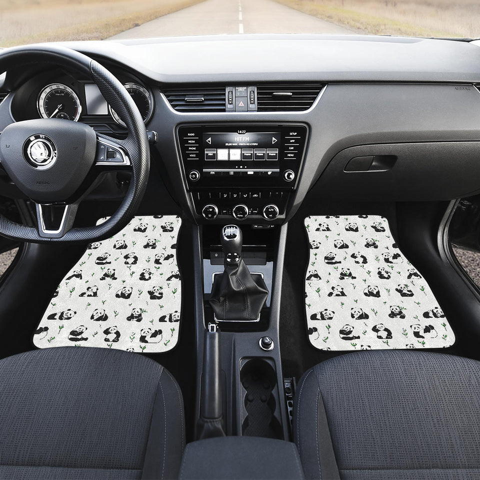 Panda Pattern Background Front Car Mats