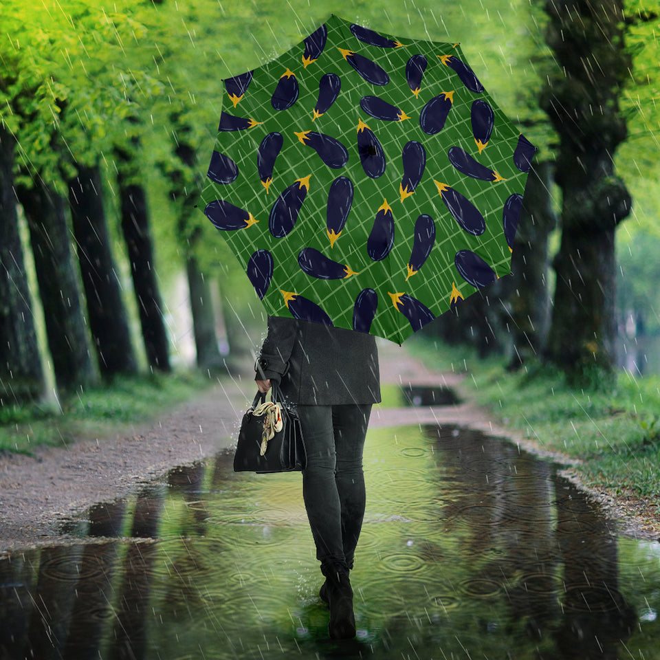 Eggplant Pattern Print Design 04 Umbrella