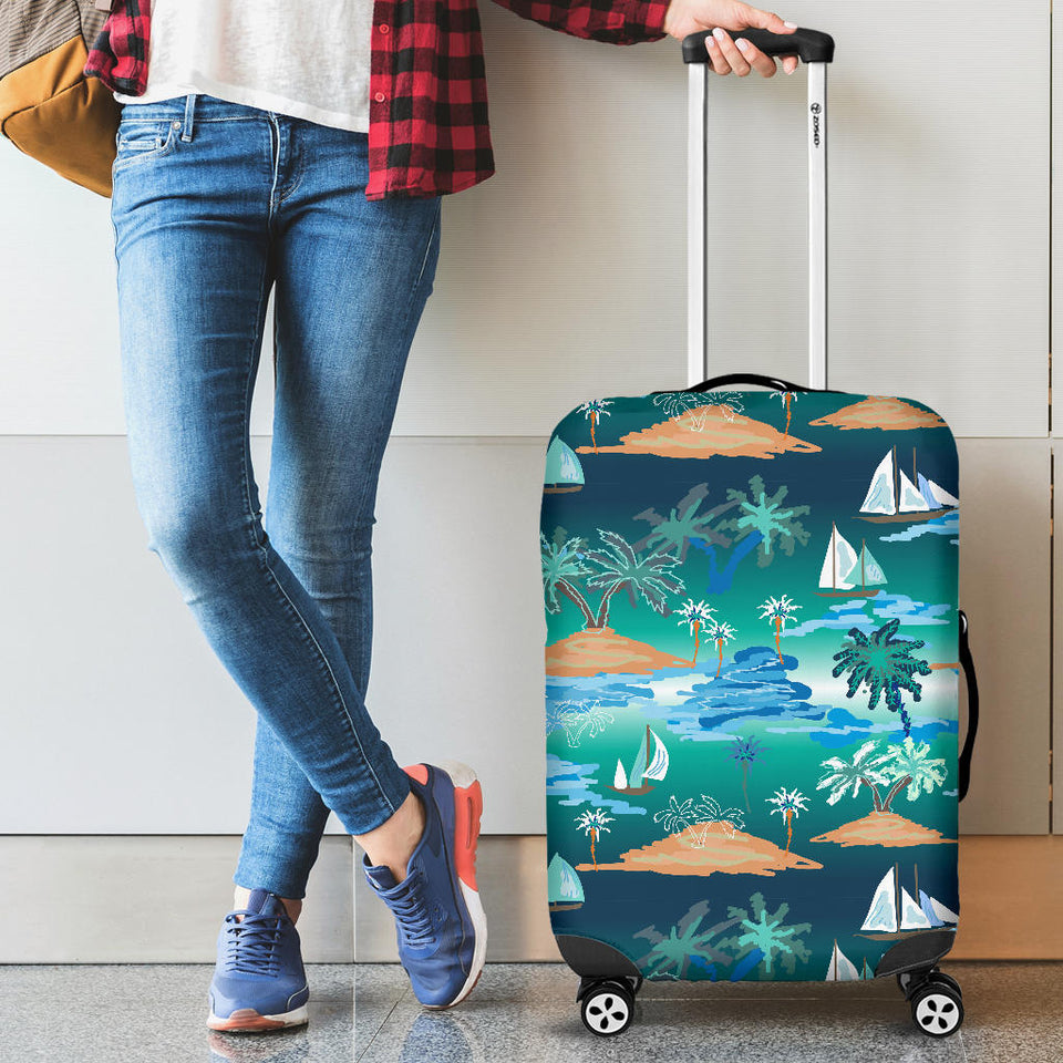 Sailboat Water Color Pattern Luggage Covers