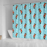 Otter Heart Pattern Shower Curtain Fulfilled In US