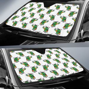 Green Amy Helicopter Pattern Car Sun Shade