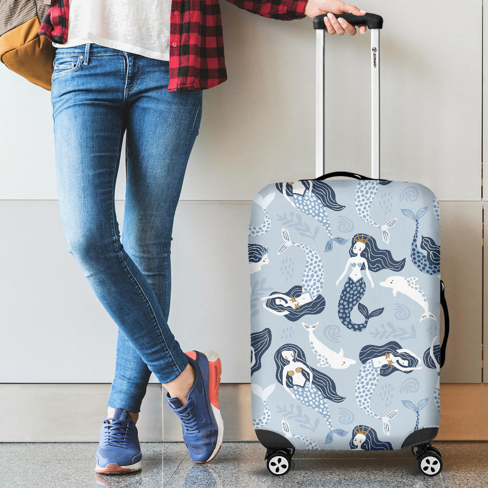 Mermaid Dolphin Pattern Luggage Covers