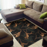 Monkey Pattern Black Background Area Rug