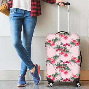 Red Pink Orchid Hibiscus Pattern Luggage Covers