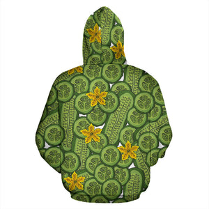 Cucumber Pattern Theme Men Women Pullover Hoodie