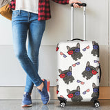 French Bulldog Sunglass Pattern Luggage Covers