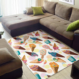 Colorful Ice Cream Pattern Area Rug