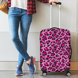 Pink Leopard Skin texture Pattern Luggage Covers