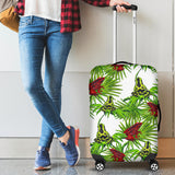 Green Red Frog Pattern Luggage Covers