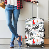 Sailboat Pattern Background Luggage Covers