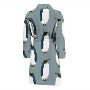Penguin Pattern Theme Men Bathrobe