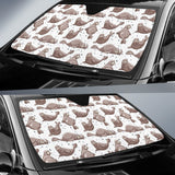 Sea Lion Pattern Background Car Sun Shade