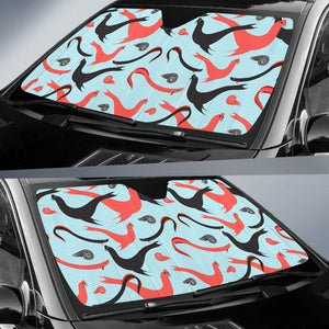 Sea Lion Pattern Theme Car Sun Shade