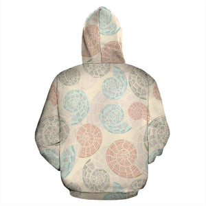 Shell Pattern Men Women Pullover Hoodie