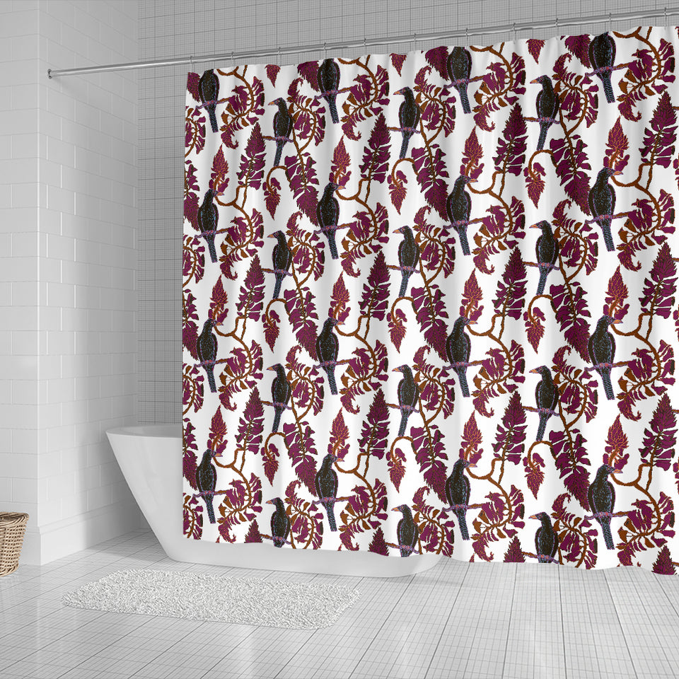 Crow Tree Leaves Pattern Shower Curtain Fulfilled In US
