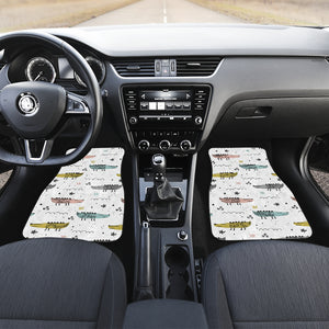 Cute Crocodile Pattern Front Car Mats