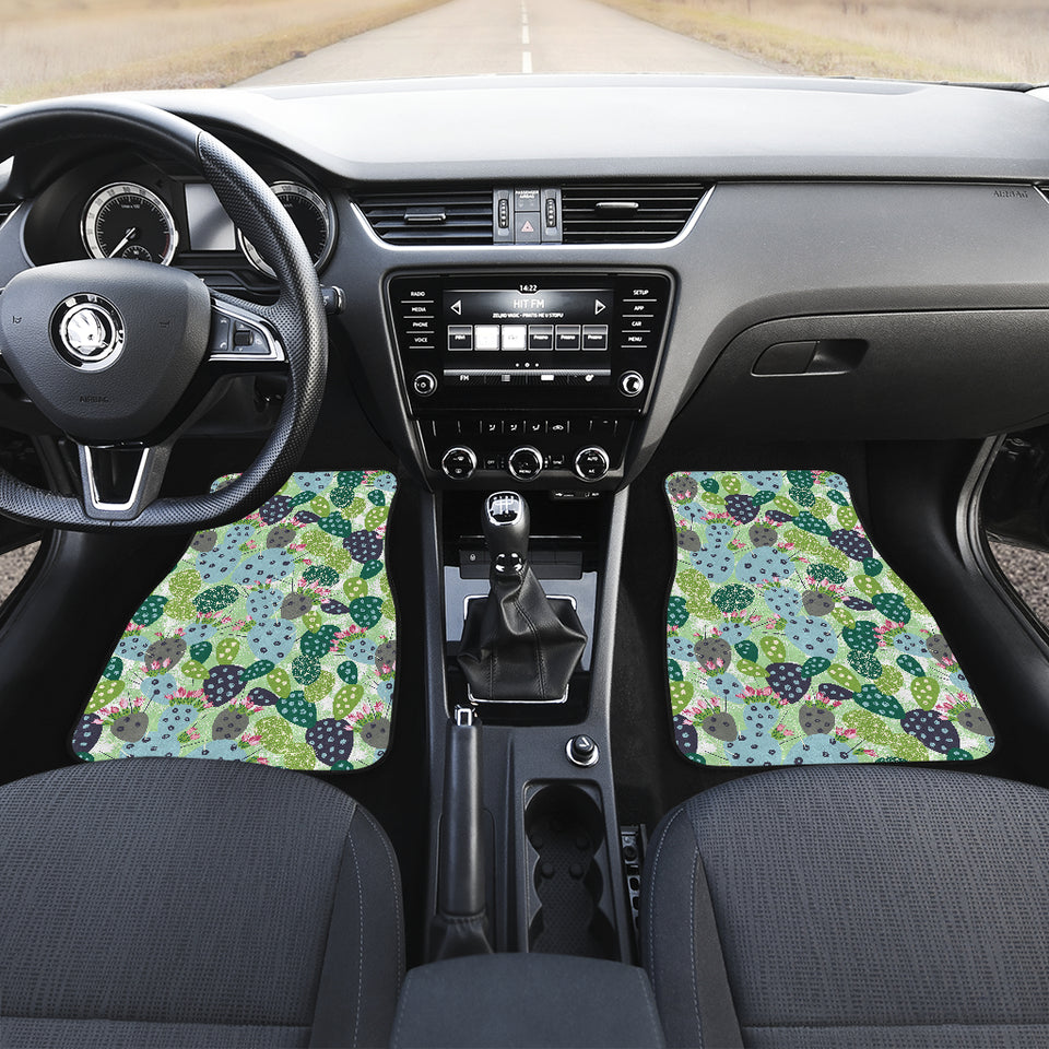 Cactus Pattern Background Front Car Mats