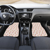 Pink Dachshund Pattern Front Car Mats
