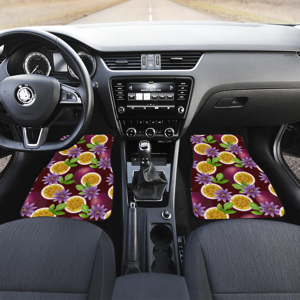 Passion Fruit Sliced Pattern Front Car Mats
