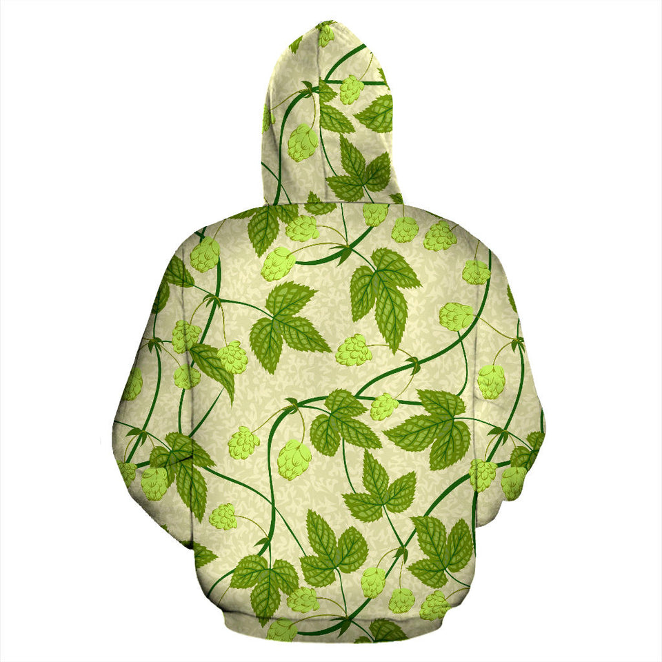 Hop Theme Pattern Pullover Hoodie