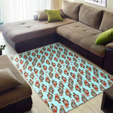 Otter Pattern Background Area Rug