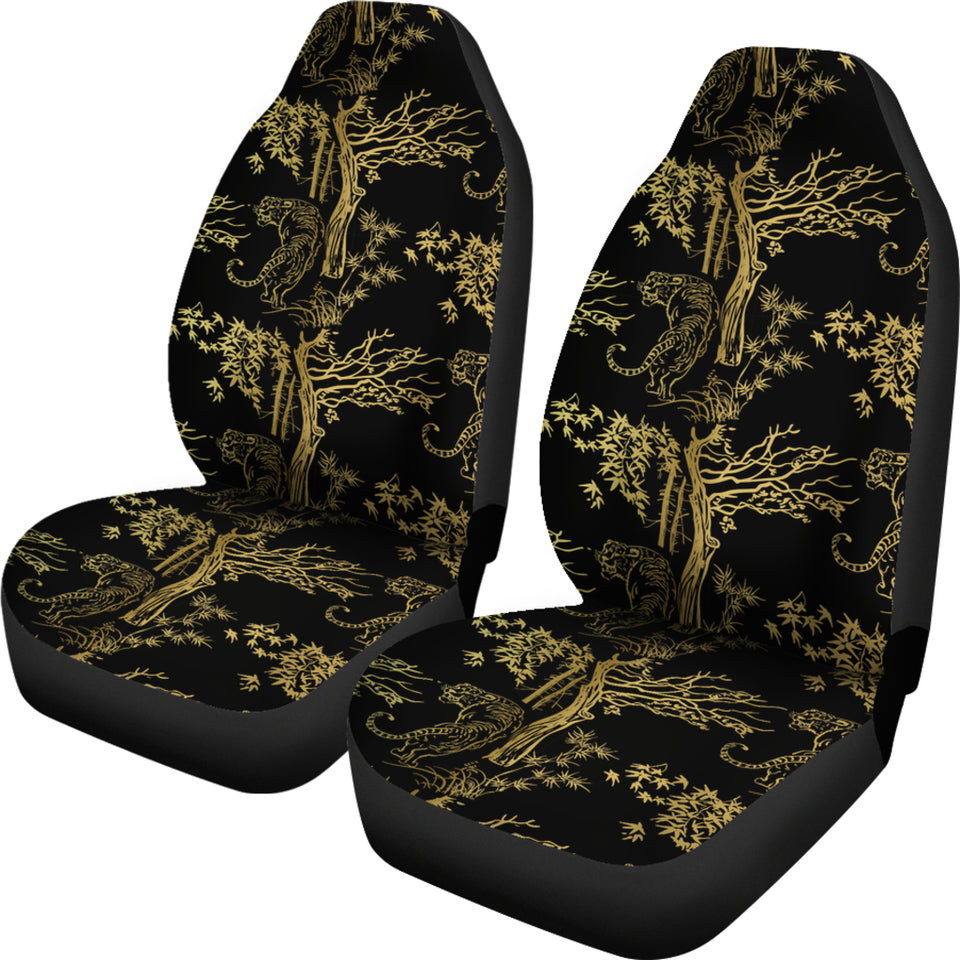 Bengal Tiger and Tree Pattern Universal Fit Car Seat Covers
