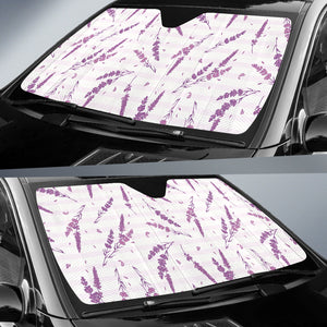 Lavender Pattern Stripe Background Car Sun Shade