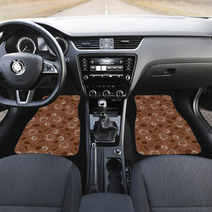 Coffee Cup and Coffe Bean Pattern Front Car Mats