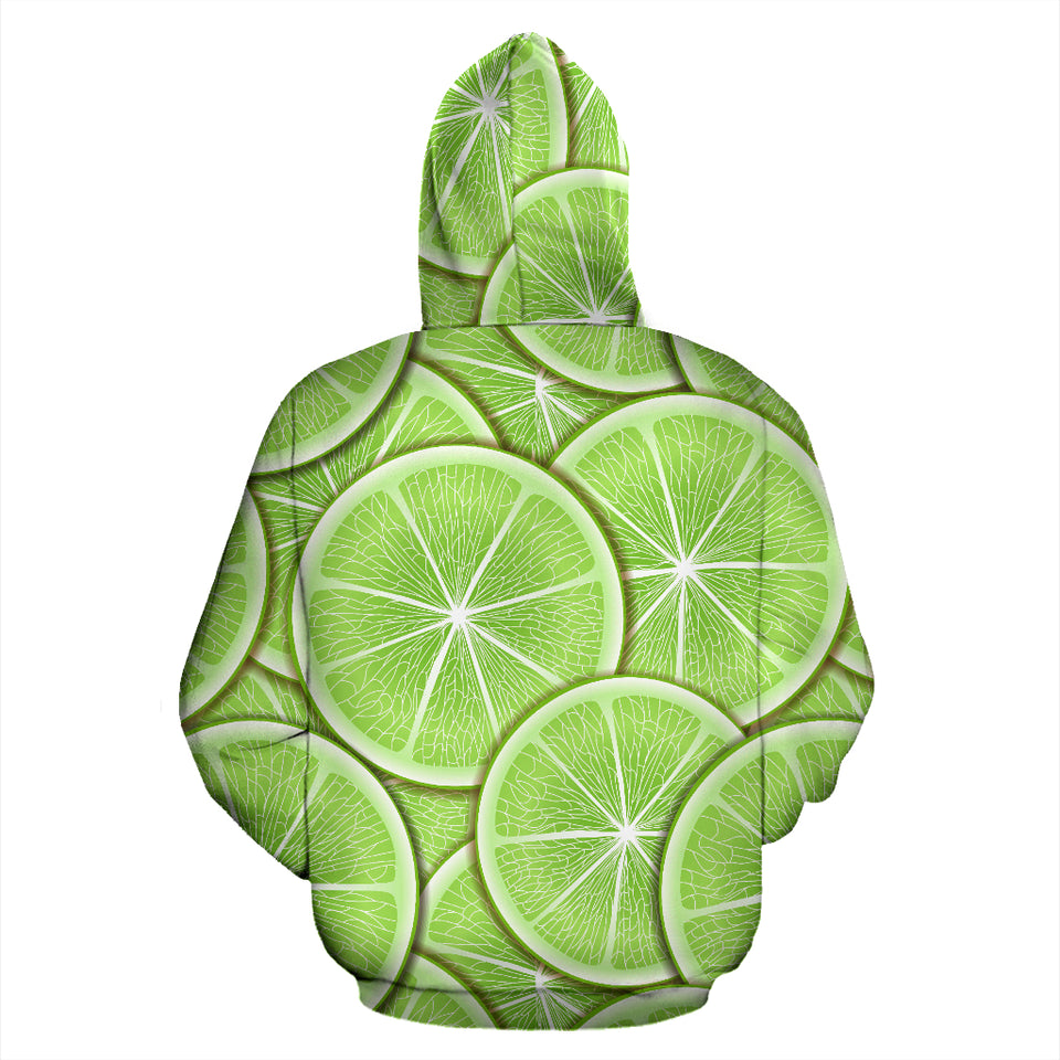 Sliced Lime Pattern Men Women Pullover Hoodie