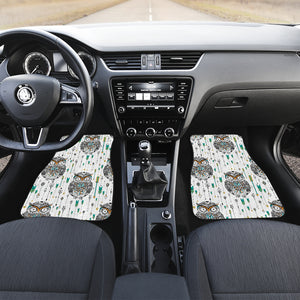 Owl Arrow Pattern Front Car Mats
