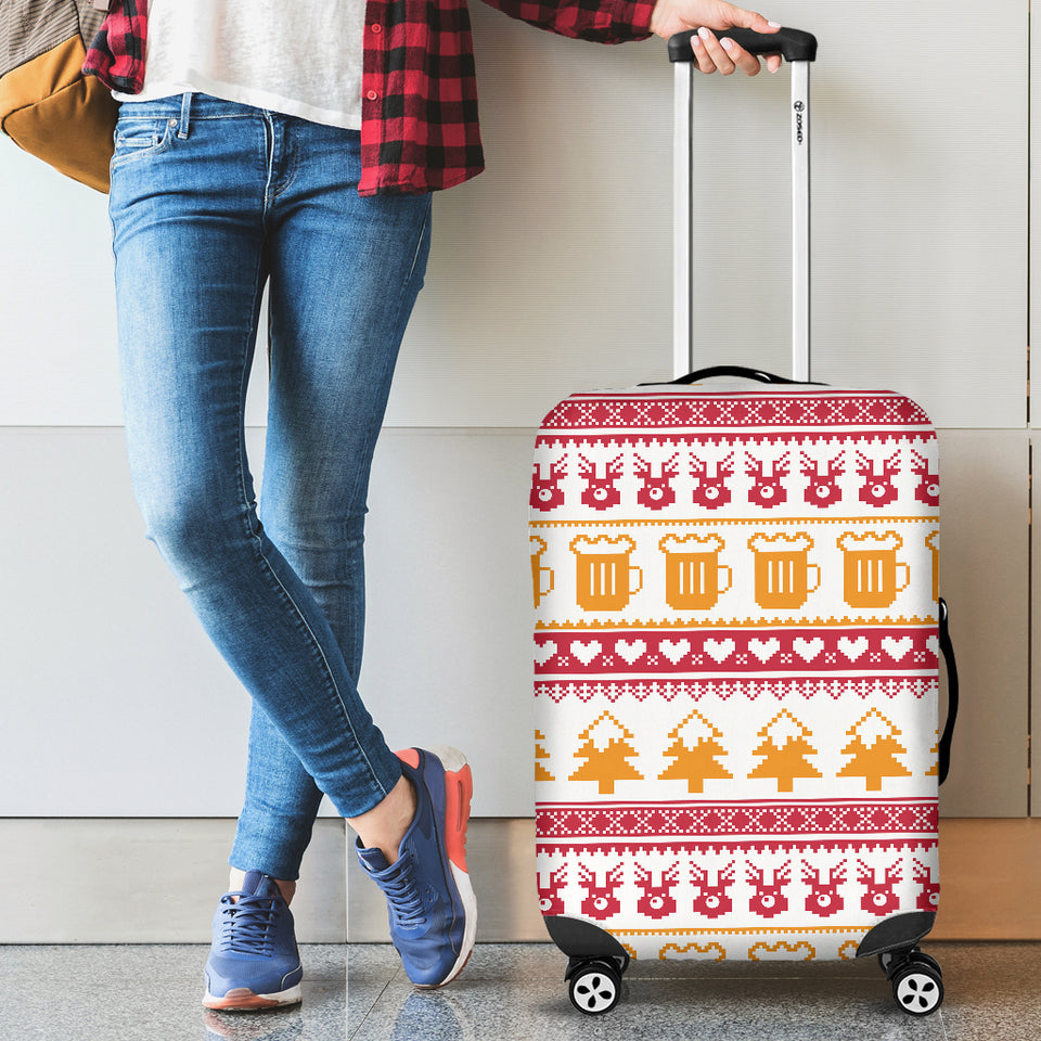 Beer Sweater Printed Pattern Luggage Covers