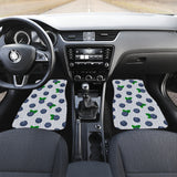 Blueberry Pokka Dot Pattern Front Car Mats